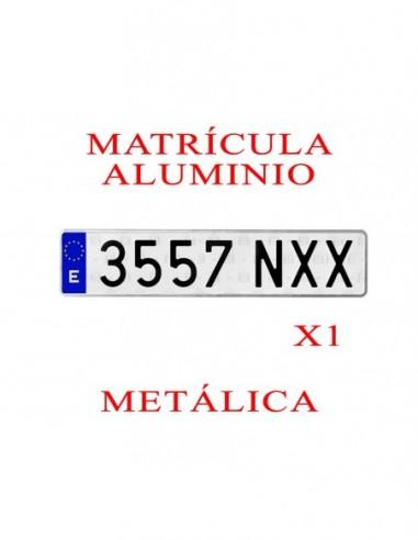 matricula aluminio coche metalica