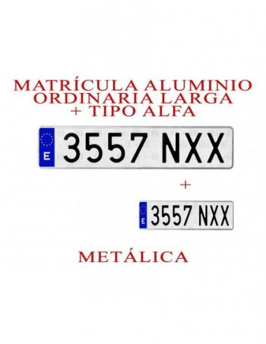 matricula aluminio coche alfa
