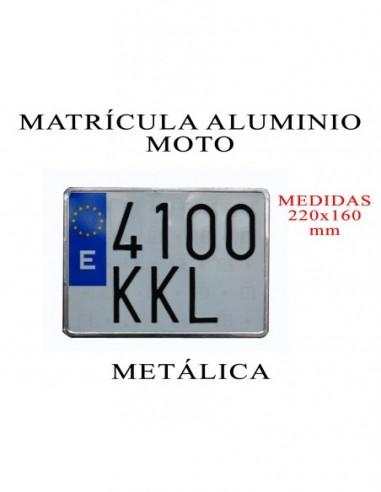 matricula aluminio moto metalica