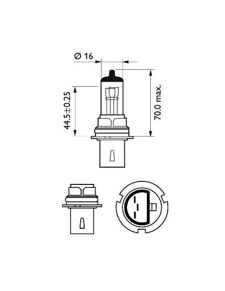 lampara bombilla philips hb1