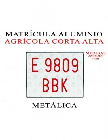 matricula aluminio agricola metalica