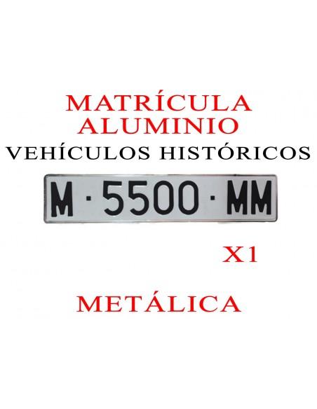 matricula aluminio historico historicos