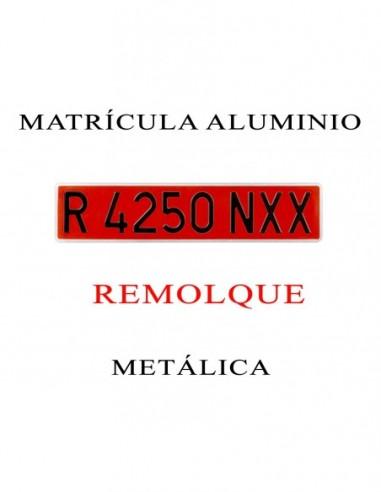 matricula aluminio remolque roja