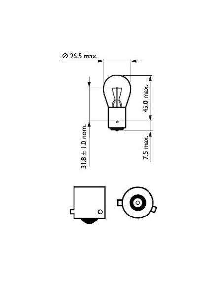 lampara bombilla philips pr21w