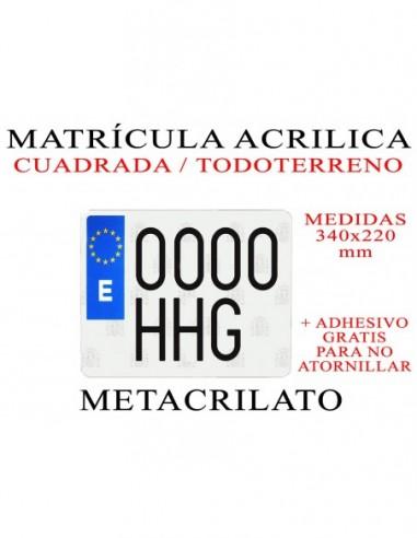matricula metacrilato 4x4 todoterreno