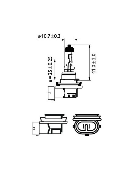 lampara bombilla philips h11