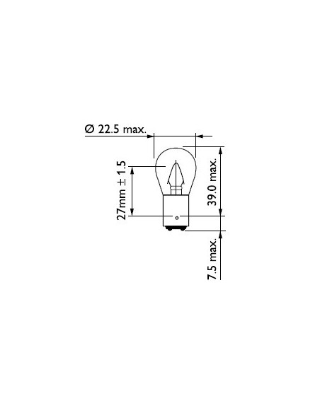 lampara bombilla philips p22