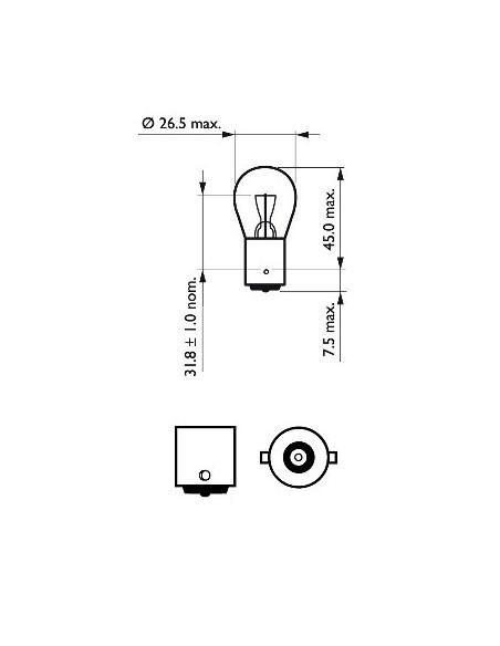 lampara bombilla philips p21w