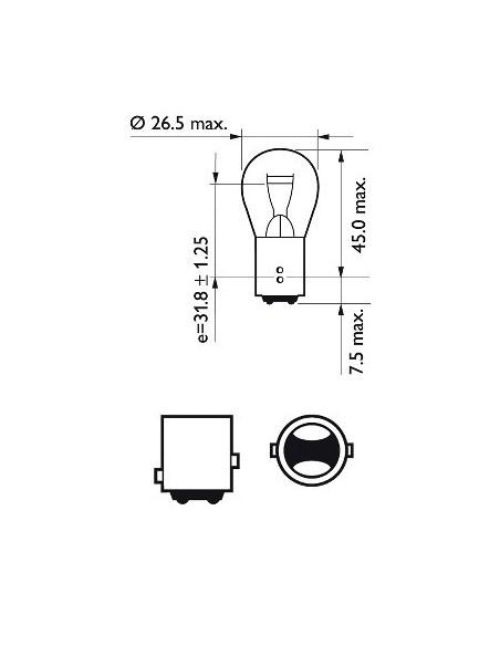 lampara bombilla philips p21/5w