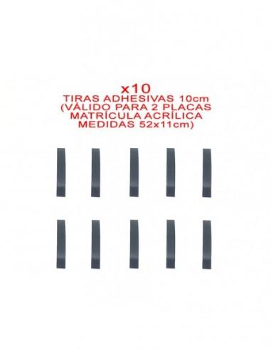tiras adhesivas matricula metacrilato